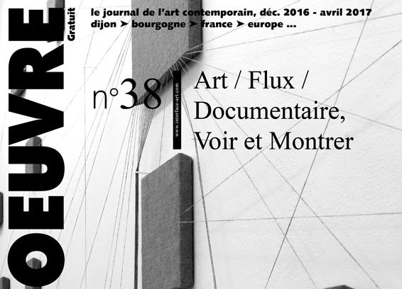 sortie du journal horsd'oeuvre n°38 : Art / Flux / Documentaire, Voir et Montrer